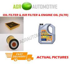 PETROL OIL AIR FILTER KIT + LL 5W30 OIL FOR VAUXHALL INSIGNIA 1.6 116 BHP 2008-