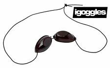 1 PAIR OF SUNBED UV EYE PROTECTION GOGGLES + 1 FREE TANNING LOTION SAMPLE GIFT