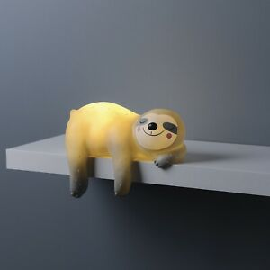 Sleepy Sloth LED Night Light Shelf Table Lamp Child Bedroom Kid Ornament Decor