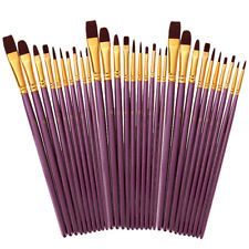 50pcs Professional Artist Paint Brush Set For Acrylic Oil Watercolor Painting W