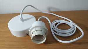 Ceiling Light Holder E27 ES Pendant Cord Flex Hanging Lamp Bulb Fitting Kit