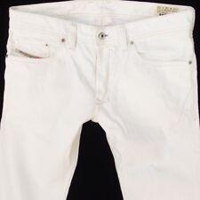 Mens Diesel SAFADO 0811G Straight Slim Fit White Jeans W32 L34