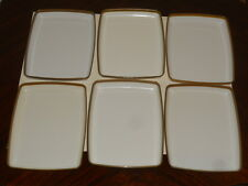 6 Vintage DELTA AIRLINES Plastic Trays Meal Dish Plastic Plate By Anchor Hocking
