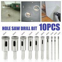 10pcs Set 3mm-18mm Diamond Tool Drill Bit Hole Saw for Glass Ceramic Marble Tile