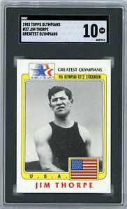 1983 Topps Olympians #37 Jim Thorpe Greatest Olympians SGC 10 POP 1...
