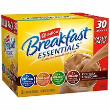 Carnation Breakfast Essentials Chocolate Drink Mix 2 packs x 30 = 60 Total ct.