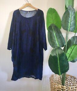 elk silk relaxed print dress size M / 12 women's summer dress