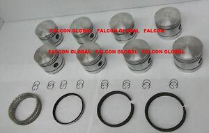 Sealed Power Cast Pistons/8+Rings Set Ford Mercury 239 Flathead V8 1939-53 +.040