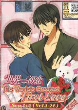 DVD Sekai ichi Hatsukoi Season 1+2 ( Vol. 1 - 26 End ) + Bonus Movie + Free Gift