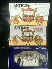 ANTIGUA 3 x booklets Royal State Coaches x 2 + Silver Jubilee