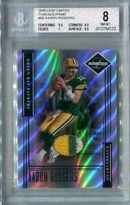 2006 Leaf Limited Threads Prime Aaron Rodgers BGS 8 #'d 24/30 - 2nd Year MVP 🔥