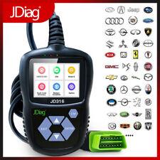 JD316 Automotive Code Reader Battery Testers OBD2 Car Scanner Tools Color Screen