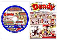 Dandy Comics on DVD 111 issues - Fun 1940's - 60's  includes viewing software
