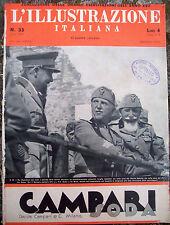1939 'ILLUSTRAZIONE ITALIANA' GRANDI MANOVRE ESERCITO TRA ASTI E CASALE MONFERR.