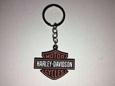 HARLEY - DAVIDSON Bar Shield Color Logo Keychain Key chain NEW