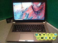 "Toshiba Portege Z30 Laptop 4th Gen i5 8GB 128SSD Backlit K/board B/tooth 13.3"""