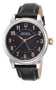 New Old Stock Bulova Accutron Gemini 65B145 GMT Automatic Men's Watch MSRP 1375.