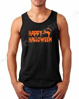 Men's Tank Top Happy Halloween #2 T Shirt Scary Funny Tee Costume Spooky Horror