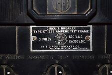 ITE Circuit Breaker 3-Pole 600VAC 125/250VDC 150A FJ ET4744 ET225