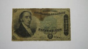 1863 $.50 4th Issue Fractional Currency Note! Bank Stamp Act Civil War! Fourth