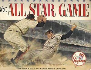 1960 All Star Game Program at Yankee Stadium Nationals Blank Americans NICE!!