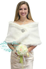 Faux Fur Bridal Bolero Jacket 680F Ivory