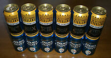 6 PITTSBURGH STEELERS SUPER BOWL BUD LIGHT BEER CANS 2015 - SET OF SIX CANS