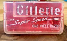 1940s Gillette Super Speed CASE ONLY for vintage safety razor good condition