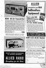 1948 Print Ad of Allied Radio Hallicrafters HT19 Transmitter S52 AC-DC Receiver