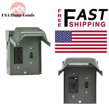 Ge © Backyard Outlet with Switch and Gfi Receptacle 20 Amp Lockable Zinc Coate