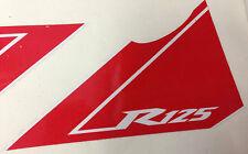 Kit Set Sticker Stickers Adesivo Adesivi Yzf R 125 Yamaha R125 bianca rossa