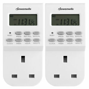 DEWENWILS Digital Lamp Timer Plug Socket Electrical Plug in Light Timer Switch