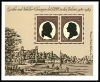 EBS East Germany DDR 1982 Goethe Schiller Michel Block 66 MNH**