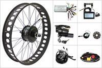 48V 750W Fat Tire Electric Bike eBike Conversion Kit Bafang Motor Rear Wheel