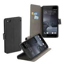 Book Style Case mit Standfunktion f HTC One X9 Tasche Etui Schutz Hülle schwarz