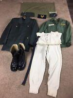 (Lot Of 11) Vietnam Army Uniform Collectible Pieces Boots Jacket Tie Hat 1959-69