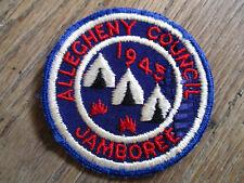 vintage 1945 BSA Allecheny Council Jamboree Boy Scout Cut Edge Patch