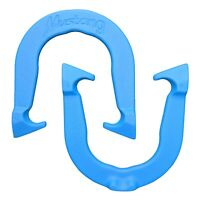 Mustang Pro Professional Pitching Horseshoes- Blue, One Pair, Made in USA