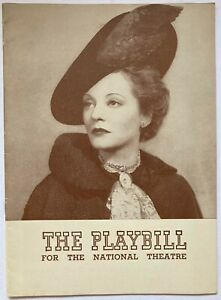 1939 The Little Foxes Bankhead Playbill National Theatre NY