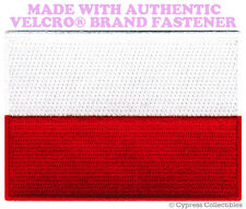 POLAND FLAG PATCH POLISH EMBLEM EMBROIDERED POLSKA new w/ VELCRO® Brand Fastener
