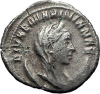 Diva MARINIANA wife of Valerian I 255AD Ancient Silver Roman Coin PEACOCK i65261