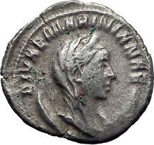 Diva MARINIANA wife of Valerian I 255AD Ancient Silver Roman Coin PEACOCK i65261
