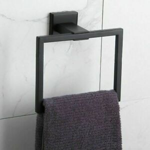 Towel Ring Holder Square Hand Wall Mounted Modern Bathroom Accessories