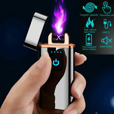 Dual Arc Usb Electric Lighter Touch Plasma Flameless Windproof Cigarette Lighter
