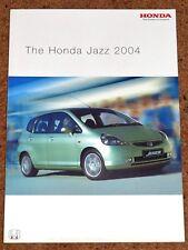 2004 HONDA JAZZ Sales Brochure - 1.4i S SE Sport - Mint Condition