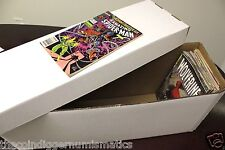 1 + BCW Long Cardboard Comic Book Custom Storage Box Holds 250-300 Comics Holder