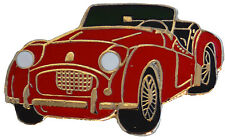 Triumph TR2 car cut out lapel pin - Red