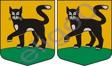 2x incukalns LATVIA coat of arms bumper stickers decals