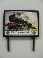 GWR, Speed to the West - Model Railway Billboard - N, OO & O Gauge