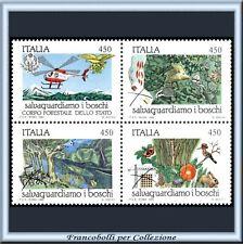 1984 Italia Repubblica Blocco Natura n. 1673/1676 **